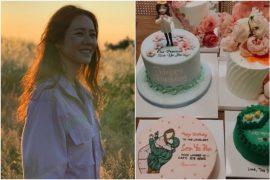한국 배우 선 이진, 크래시 랜딩 온 유 (Crash Landing On You)의 한 장면을 보여주는 생일 케이크, 엔터테인먼트 뉴스 및 주요 기사