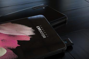 이것은 삼성 팝업 및 회전 스마트 폰 카메라의 모습입니다.