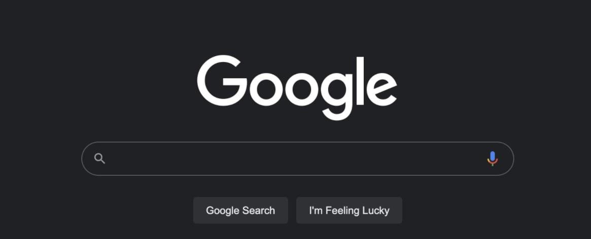 Google 다크 검색 모드