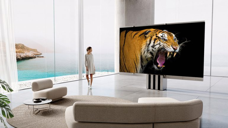 The C Seed M1 folding MicroLED TV
