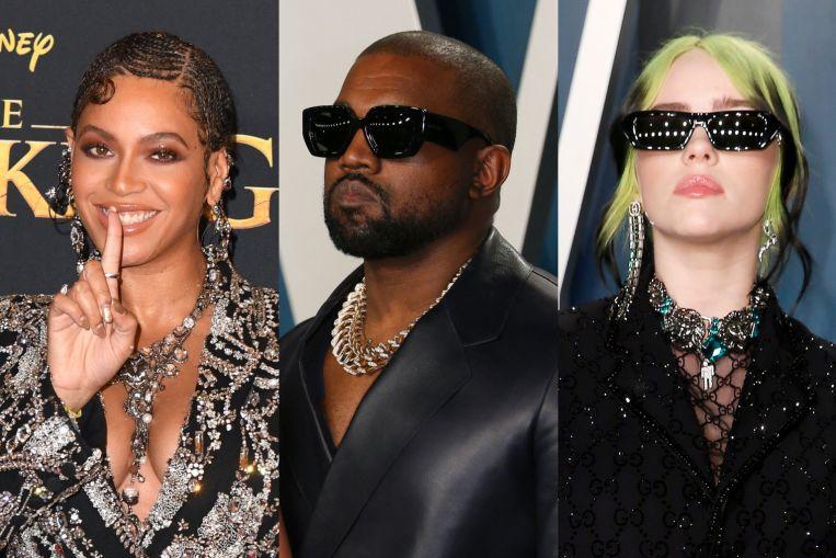 비욘세, 카니 예 웨스트, 빌리 아일리쉬, 첫 그래 미상 수상자, 연예 뉴스 및 주요 기사