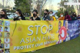 편견의 증가로 인해 엔터테인먼트 업계의 아시아계 미국인들이 발언권을 행사하고 있습니다.