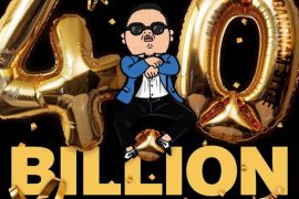 "Singer-songwriter Psy uploaded this image to celebrate that the music video of his 2012 worldwide hit ""Gangnam Style"" reached 4 billion views on YouTube on Sunday, a first for a K-pop single. [P NATION]"