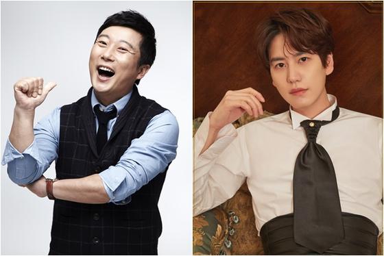 Comedian Lee Soo-geun, left, and Kyuhyun. [JTBC]