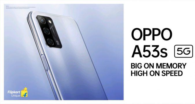 OPPO A53s 5G는 4 월 27 일 인도에서 출시 될 예정입니다.