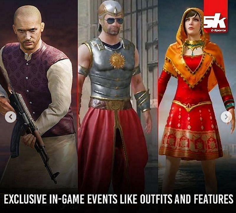 Battlegrounds Mobile India는 특히 인도 모바일 플레이어를 위해 게임 내 이벤트와 장식 아이템을 제공합니다