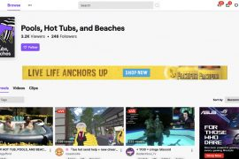 """Twitch는 광고주의 비 승인에 따라 전용 """"온수 욕조""""카테고리를 시작했습니다."""