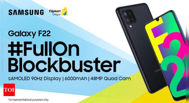삼성 갤럭시 F22는 7 월 6 일 인도에서 출시 될 예정이며, Flipkart 가용성 확인
