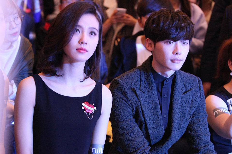 한국 배우 이종석과 중국 배우 류시시