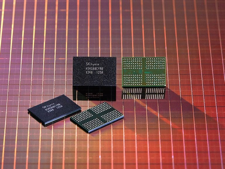 This photo provided by SK hynix Inc. on Monday, shows the company