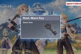 Rust-Worn Key, a hidden Quest Item to unlock a gate (Image via Sportskeeda)