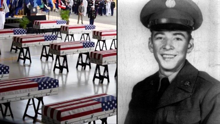 1950 년 한국 전쟁에서 사망 한 18 세 미군 리처드 헨더슨이 마침내 쉬고있다