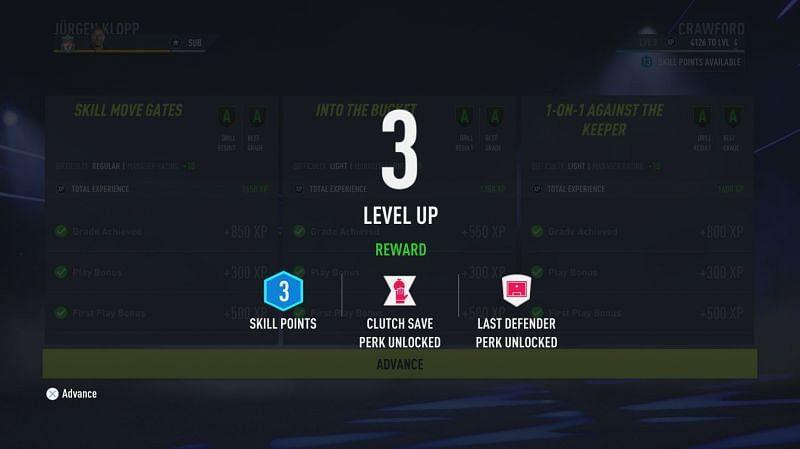레벨업 시 특전 및 스킬 포인트 획득(Electronic Arts 제공 이미지)