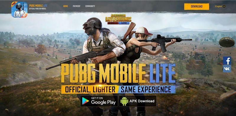 그런 다음 APK 다운로드 버튼을 눌러야 합니다(PUBG Mobile Lite를 통한 이미지).