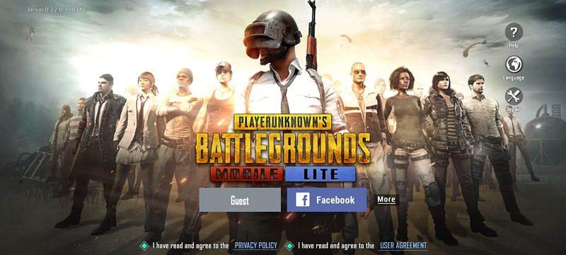 게임을 열고 계정에 로그인해야 합니다(PUBG Mobile Lite를 통한 이미지)